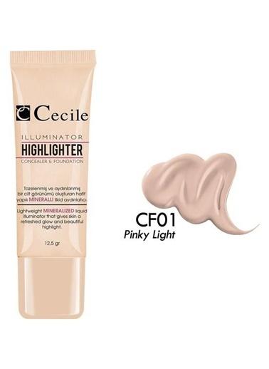 Cecile Msi Işık Göz Altı Kapatıcısı Ve Fondöten Cf01 Renksiz